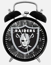 "Oakland Raiders Alarm Desk Clock 3.75"" Home or Office Decor E438 Nice For Gift"