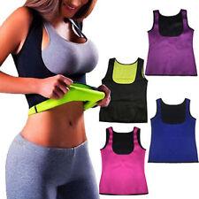 Warm Thermo Yoga Vest Sweat Neoprene Body Shaper Slimming Waist Trainer Cincher