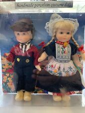Vintage Dolls Hand Made Netherlands Boy & Girl In Original Package