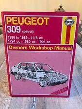 PEUGEOT 309 1986-1989 PETROL HAYNES WORKSHOP MANUAL 1266