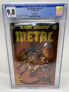Dark Nights: Metal #6 CGC 9.8 DC Boutique Gold Foil Variant. Wonder Woman