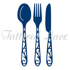 Tattered Lace Cutting Dies  KNIFE, FORK & SPOON D1205   Stephanie Weightman