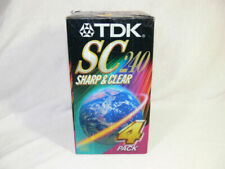 TDK SC240 sharp & Clear Blank VHS tapes 4 pack