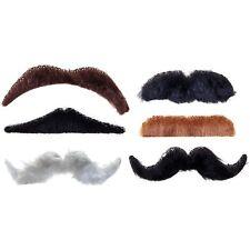 Stick On Fake Moustache Convincing Adult Fancy Dress Costume Accessory