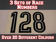 "3 Sets 7"" 180mm Custom Race Number Vinyl Stickers Decals MX Motocross Bike N21"