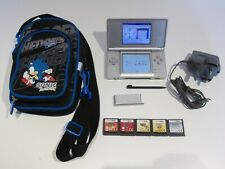 Nintendo DS Lite Silver Handheld System with 5 Games & Case