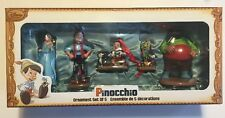 2015 Disney Art of Pinocchio Sketchbook Ornament Set of 5 Figaro Jiminy Cricket