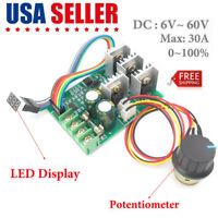 motor speed regulator DC 6-60V power drive module PWM Motor speed controller 30A