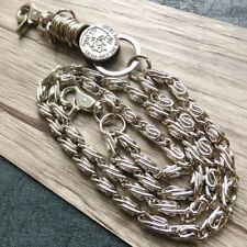 "28"" Strong Leash Thick Wallet Chain Biker Trucker Keychain 2 Roof Jean Key Chain"