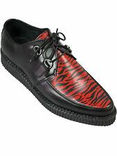 Lucky Dice Unisex Creep Creeper Schuh Rockabilly Schwarz Zebra Rot Spitz 5015