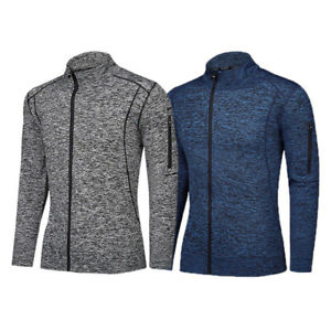 Mens Fitness Jacket Sports Workout Top Baggy Hoodie Sweater GYM Sweatshirt