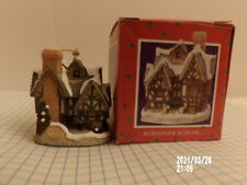 David Winter Scrooge's School Cottage Christmas Ornament with Box