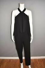 TRINA TURK $348 Black Micaela Classic Crepe Jumpsuit Halter Neckline Size 4