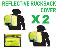 2996b83f5f 2 x Fluorescent Yellow Hi Vis Rucksack   Back Pack Cover