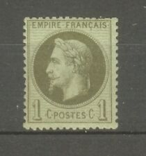 "FRANCE STAMP TIMBRE N° 25 "" NAPOLEON III 1c BRONZE "" NEUF xx TB"