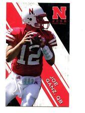 2008 Nebraska Cornhuskers Football Pocket Schedule Alltel card Joe Ganz
