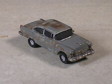 Ho Scale Rusted Out Gray 1956 Chevy with wheels