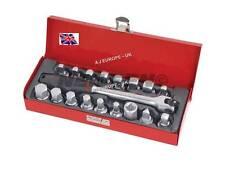 Oil Drain Plug Key Tool Set 18 Pc Metal Case Fit Majority of Vehicles Universal