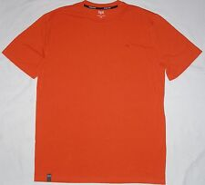 NEW mens EVERLAST tee Defense Cotton crew stretch t-shirt M orange NWOT