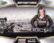 """2013 Brittany Force Castrol """"2nd issued"""" Top Fuel NHRA postcard"""