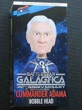 BATTLESTAR GALACTICA COMMANDER ADAMA BOBBLE HEAD FIGURE LORNE GREENE NEW