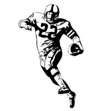 FOOTBALL PLAYER unmounted rubber stamp, fall sports #14