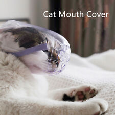 Cat Anti-bite Grooming Mask Adjustable Pet Kitten Hollow Breathable Mouth Cover