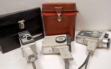 """3 CAMERAS """" EUMIG """" - Modèles """"  C5 - C6 et S2 """"  -  8 mm - 1961 / 63 - AUSTRIA"""