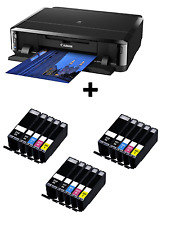 Canon PIXMA iP7250 Inkjet Colour Photo Printer USB Wi-Fi plus 3 sets of XL Inks