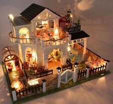 1/24 DIY Wooden Dollshouse Miniature Kit w/ LED & Music Large House Brain Game