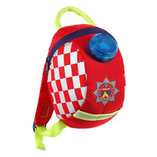 LittleLife Fireman Toddler Backpack with Rein Fire And Rescue Lights Up