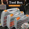 24 Compartment Professional Tool Box Organiser Case Storage Screw Nail Nut Bolt