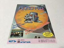 Atomic Robo-Kid PC Engine A4 flyer handbill Japan UPL