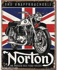 Norton Best Roadholder British TIN SIGN vintage motorcycle art metal poster 1953