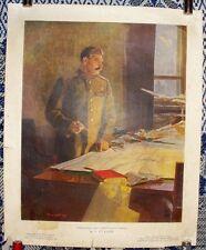 1949 JOSEPH STALIN GENERALISSIMUS USSR RARE ORIGINAL SOVIET POSTER / Reshetnikov