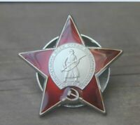 WW2 Red Army Soviet Union USSR Order of Red Star Badge Pin Russia Military Medal