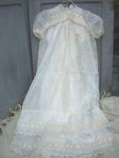 Antique Victorian Edwardian Baptismal Christening Gown Delicate Batiste Set