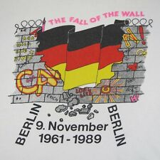 New listing Berlin Wall - The Fall Of The Wall 9 November 1989 - Vintage T-Shirt - Xl