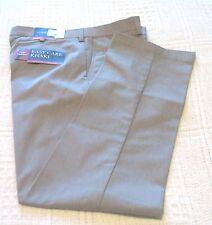 Mens Croft & Barrow Light Gray Heather Cotton Blend Slacks/Pants, 38x32, NWT