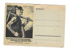 N111 Linolschnitt G.S. v. Langeweyde Bergbau in das ewige Dunkel ..Feldpost 2.Wk