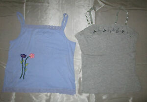 2 pc Women Night time Tank Tops Gray / Lilac Size Small