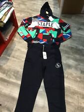 STAPLE 2 PIECE SWEATSUIT SIZE XL NAVY BLUE RETAIL 138.00
