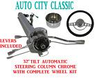 32 Streethot Rod Chrome Stainless Tilt Steering Column Automatic Imp Wheel