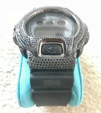 Iced Out G Shock Black Synthetic Diamond Custom Made