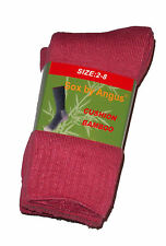 3 PRS LADIES SZ 2-8 PINK BAMBOO CUSHION FOOT EXTRA THICK WORK/HIKING SOCKS