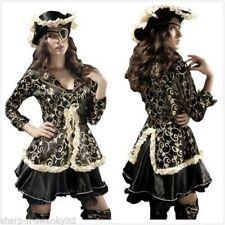 Disfraces de mujer piratas sin marca color principal negro