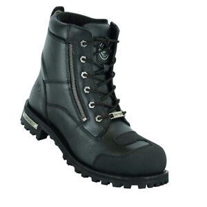 Men's Zipper Waterproof Ankle Protection Motorcycle Boots Daniel Smart DS9741