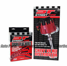 MSD StreetFire Small Block Chevy Distributor w/ Wire Set HEI 8362 8554 Combo Kit