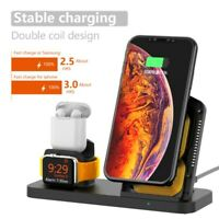 3in1 Qi Wireless Charger Dock Stand Station For Apple Watch 2/3/4 For Airpods