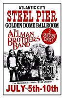 Allman Brothers Band 1971 Steel Pier Atlantic City AR Poster THouse 2016